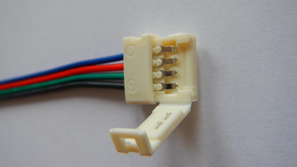 Napájecí konektor pro LED světelný pásek, SMD5050, RGB, 10mm