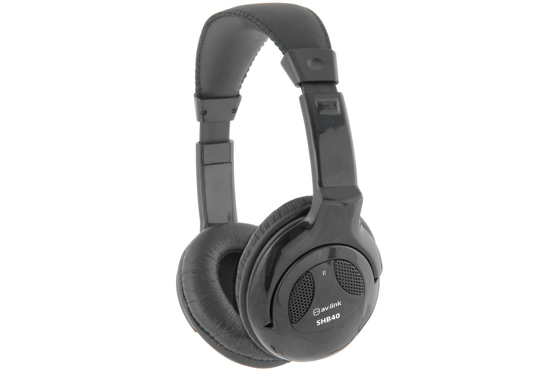 AV:link SHB40 stereo Hi-Fi sluchátka, černá