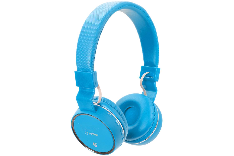 AV:link PBH-10 bezdrátová Bluetooth SD sluchátka, modrá