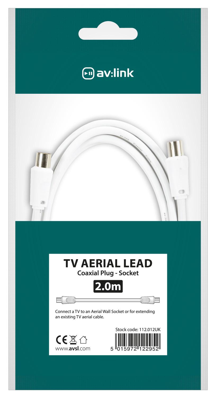 AV:link kabel koaxiální samec - samice, 2m