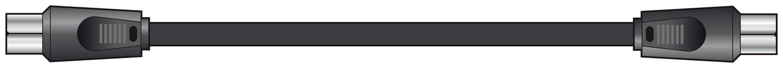 AV:link kabel RG6 koaxiální 2x samec, 75 Ohm, 2m