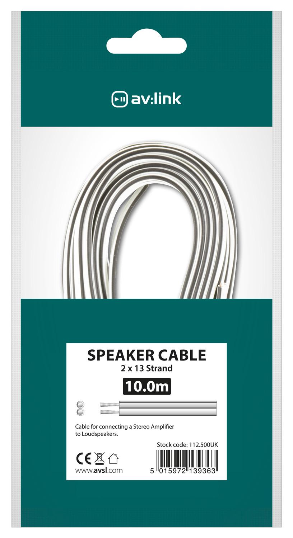 AV:link kabel reproduktorový 13 x 0.2mm, černo-bílý, 10m