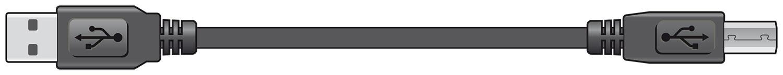 AV:link kabel USB 2.0, 1x typ A samec - 1x typ B samec, 1.5m