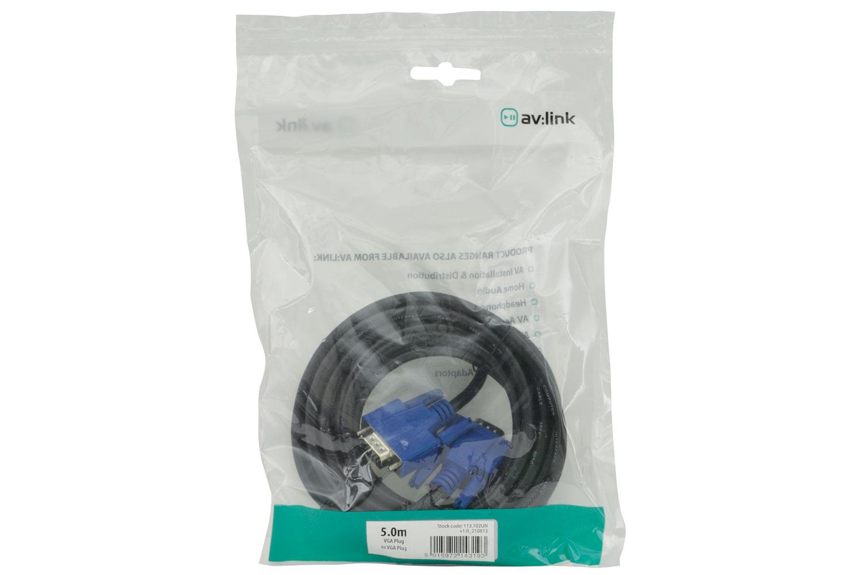 AV:link kabel 1x VGA samec - 1x VGA samec, 5m