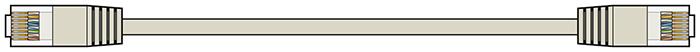 AV:link kabel U/UTP 1x RJ45 samec - 1x RJ45 samec, šedý, 1m