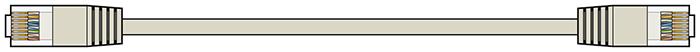 AV:link kabel U/UTP 1x RJ45 samec - 1x RJ45 samec, šedý, 2m
