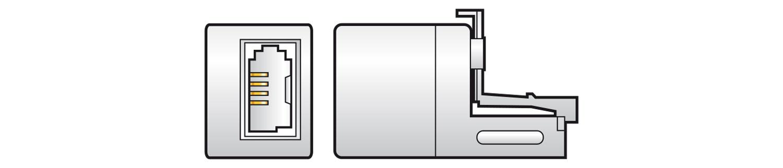 AV:link redukce telefonních konektorů RJ11 samec - BT431A samice