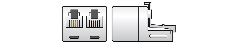 AV:link redukce 1x RJ11 samec - 2x RJ11 samice