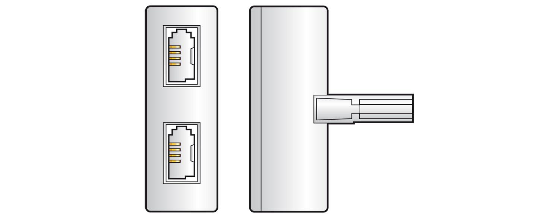 AV:link redukce 1x BT431A samec - 2x BT431A samice
