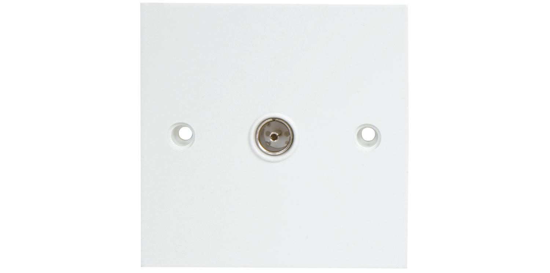 AV:link nástěnná zásuvka koaxiální konektor, bílá