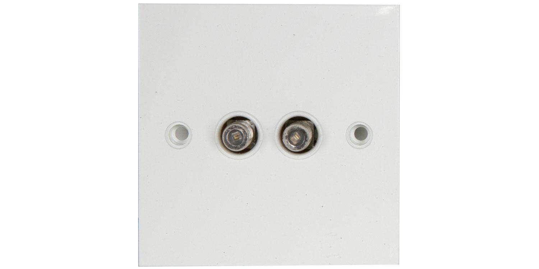 AV:link nástěnná zásuvka 2x F konektor, bílá