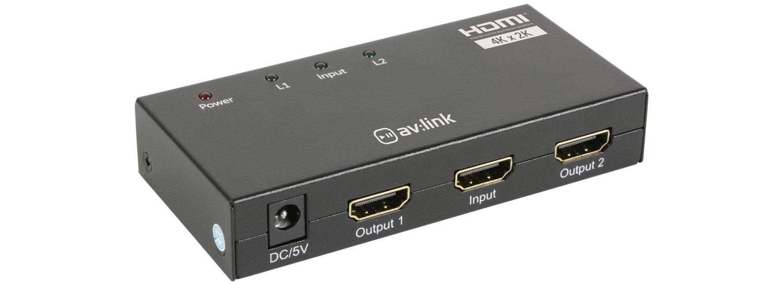 AV:link HDS12, 2-kanálový rozbočovač 4K HDMI signálu