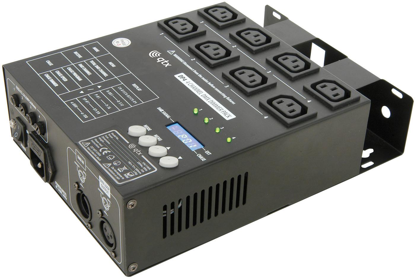 QTX stmívač 4 kanálový DMX