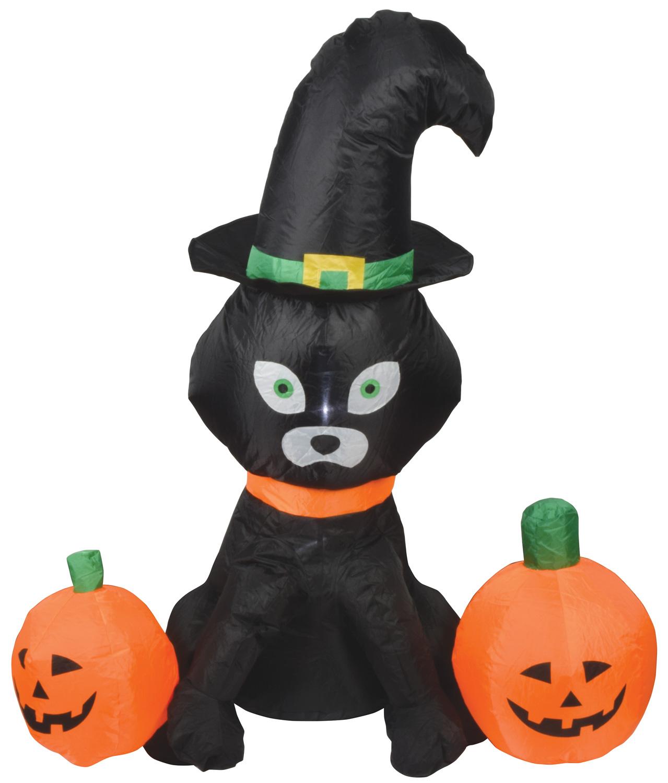 QTX INF-CAT nafukovací černá kočka s dýněmi