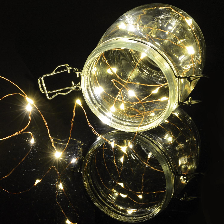 Lyyt BLC20WW dekorační osvětlení na baterie, 20x LED teplá bílá