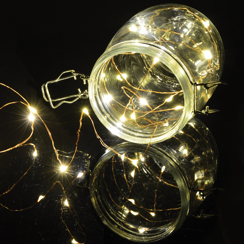 Lyyt BLC50WW dekorační osvětlení na baterie, 50x LED teplá bílá