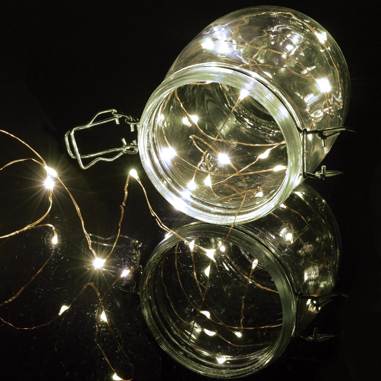 Lyyt BLC50CW dekorační osvětlení na baterie, 50x LED studená bílá