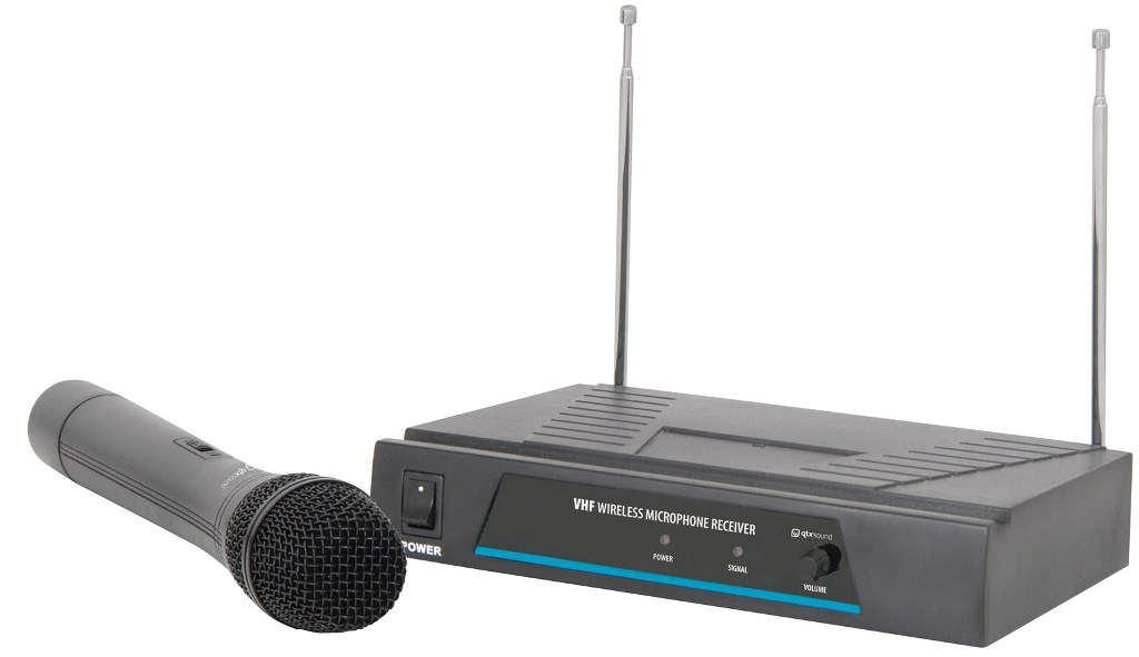 QTX VHF-1 bezdrátový mikrofon, 1 kanálový, 173,8 MHz