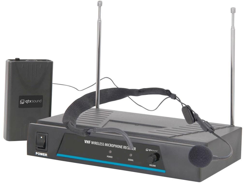 QTX VHF-N1, bezdrátový mikrofon, 1 kanálový, 173.8 MHz