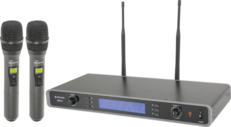 Citronic laditelný UHF ruční mikrofon, 2 kanálový, 81 frekvencí