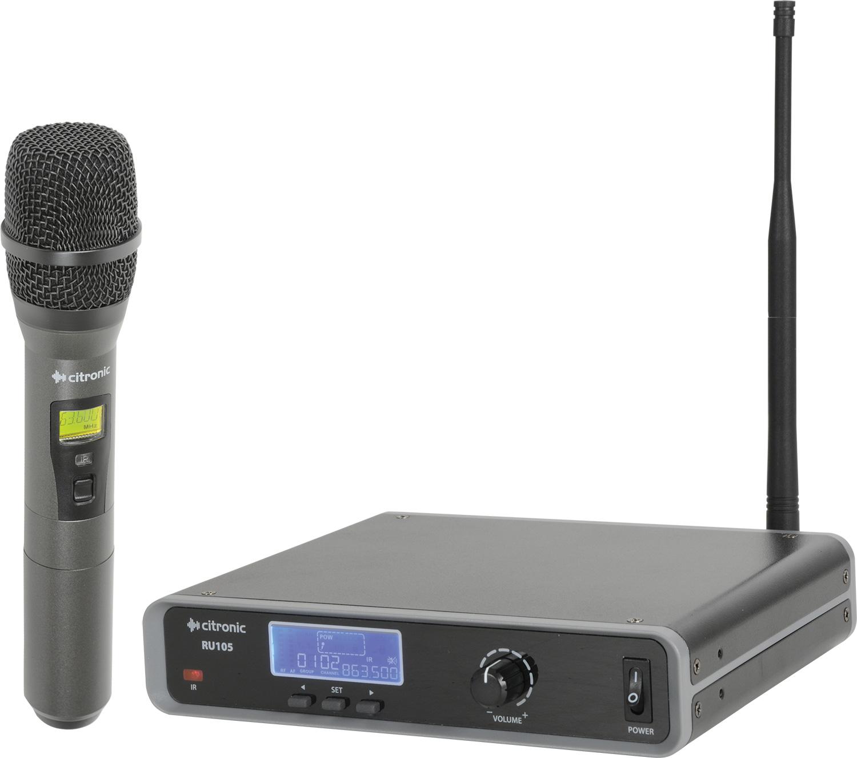 Citronic laditelný UHF ruční mikrofon, 81 frekvencí