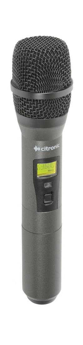 Citronic RUHH-PLL ruční UHF bezdrátový mikrofon 863.1 až 864.9 MHz