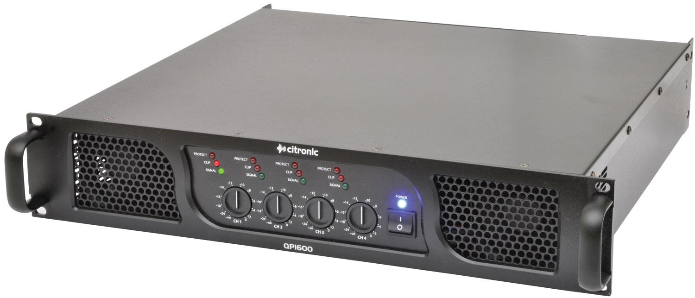 Citronic QP1600, 4 kanálový zesilovač, 4 x 400W