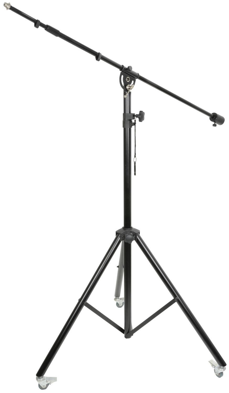 QTX SMB1323W studiový mikrofonní stojan na kolečkách