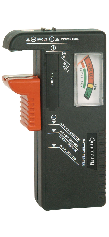 Mercury univerzální zkoušečka baterií