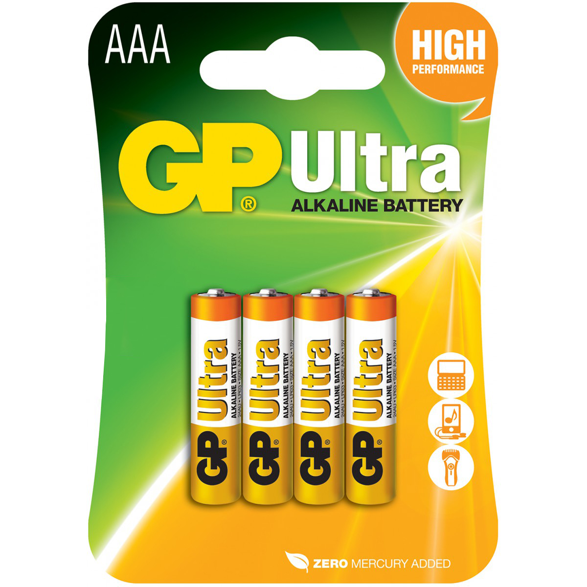 Baterie 1,5V GP AAA (mikro), 4pack Ultra alcaline