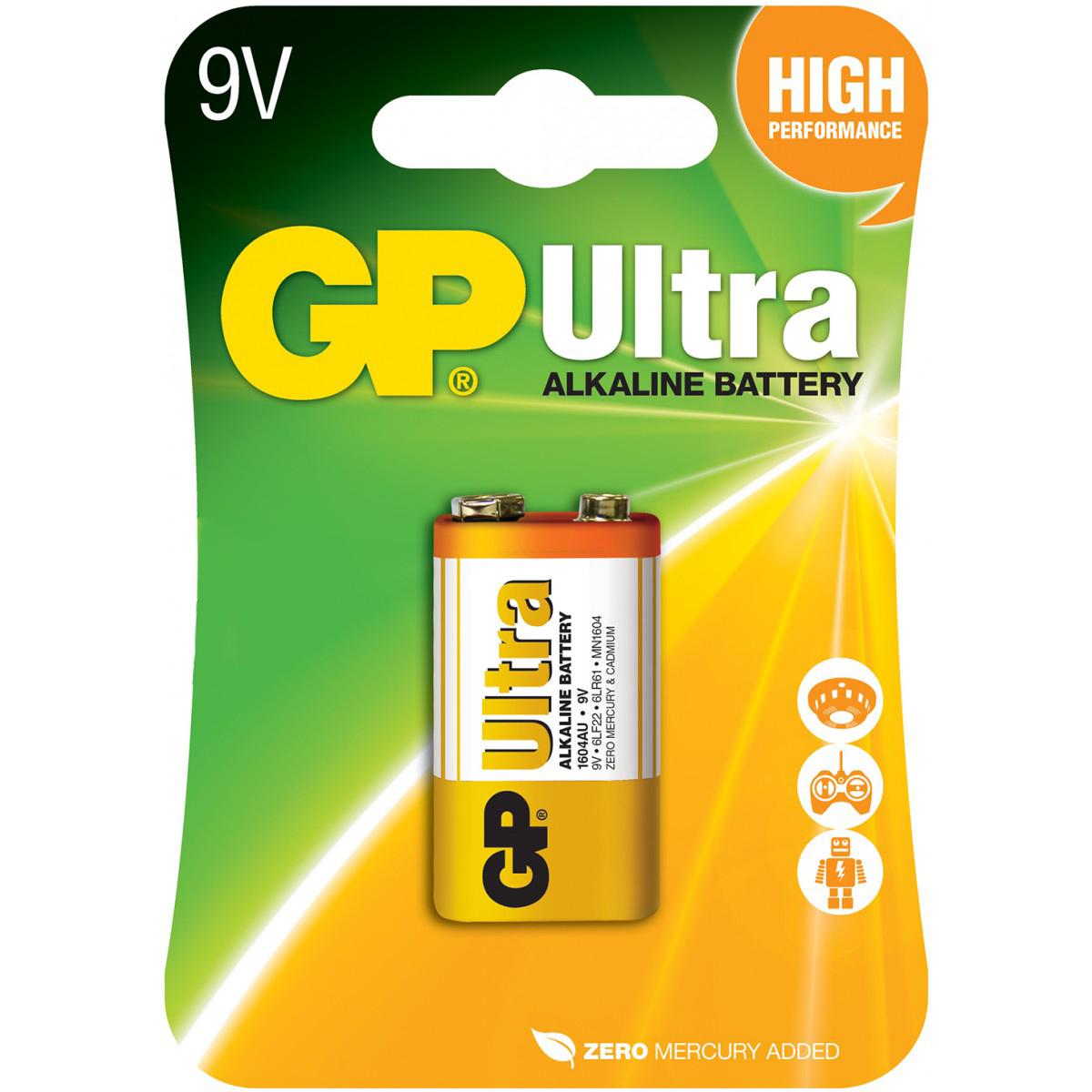 Baterie 9V GP PP3 Ultra alcaline