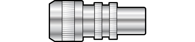 AV:link koaxiální konektor samec, hliník