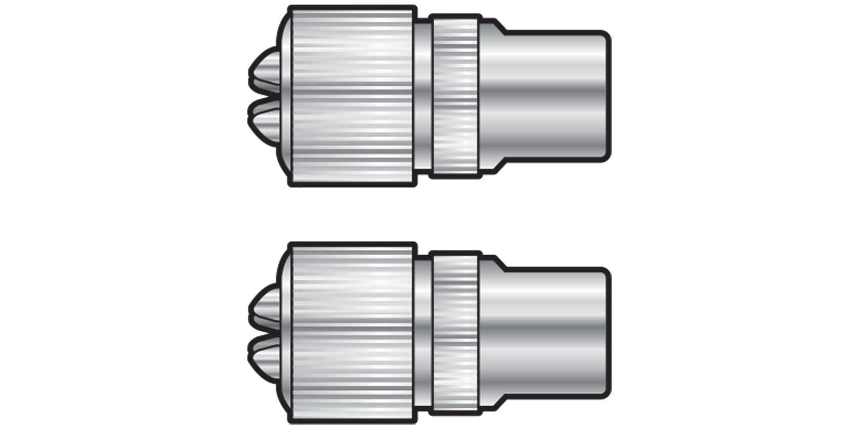 AV:link koaxiální konektor samec, poniklovaná mosaz, 2 ks