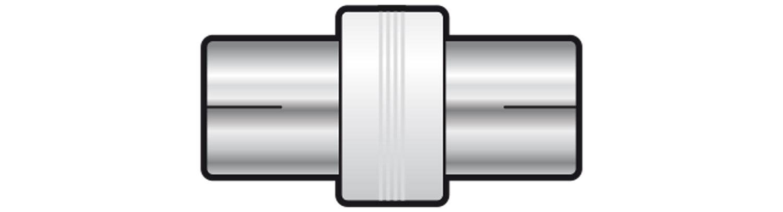 AV:link adaptér koaxiální samice - koaxiální samice