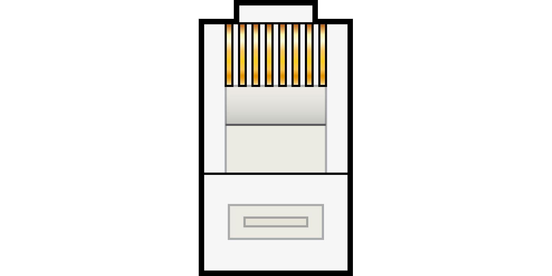 AV:link modulární konektor RJ45 8P8C samec