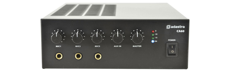 Adastra CA60, 100V mixážní zesilovač, 60W
