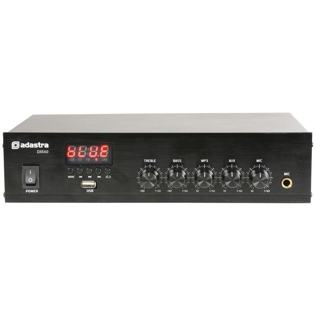 Adastra DM25, digitální 100V mixážní zesilovač, 25W, BT/MP3/FM