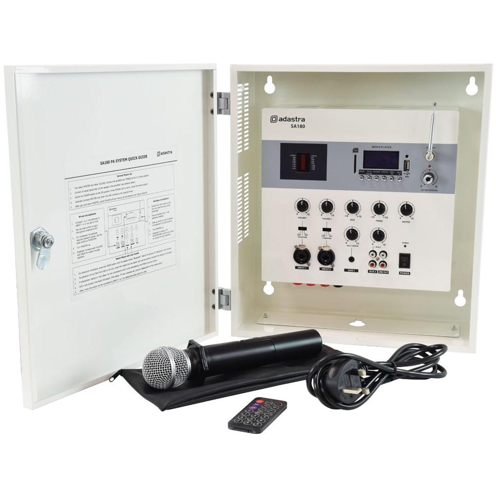 Adastra SA180 mixážní 100V zesilovač na stěnu, MP3/BT/UHF Mic, 180