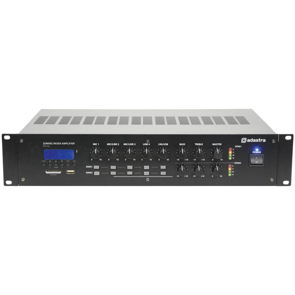 Adastra RM1202, 100V 2-zónový mixážní zesilovač, MP3/FM/BT