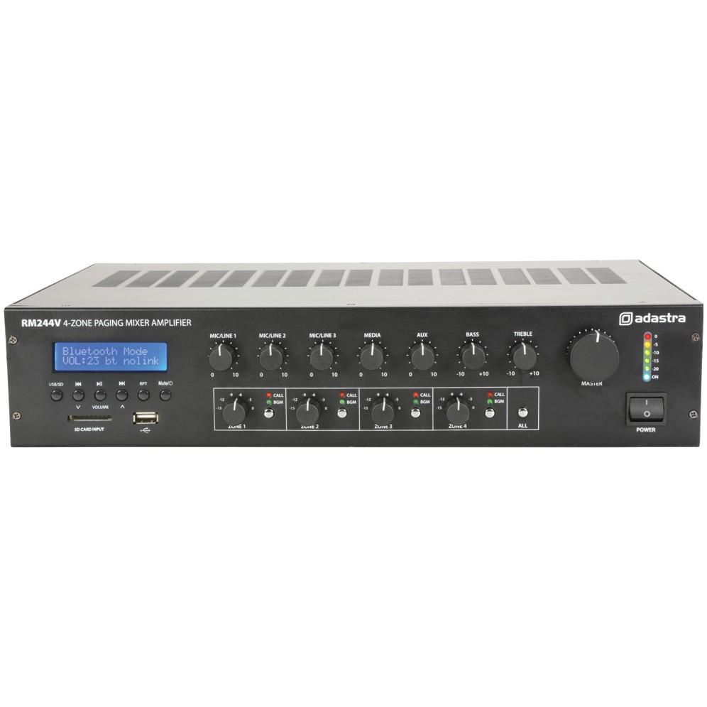 Adastra RM244V, 100V 4-zónový mixážní zesilovač, MP3/FM/BT