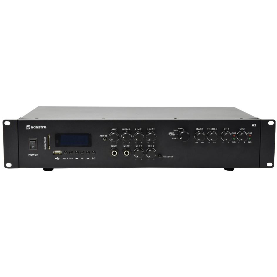 Adastra A2 Stereo PA zesilovač, MP3/BT/FM, 2x 200W