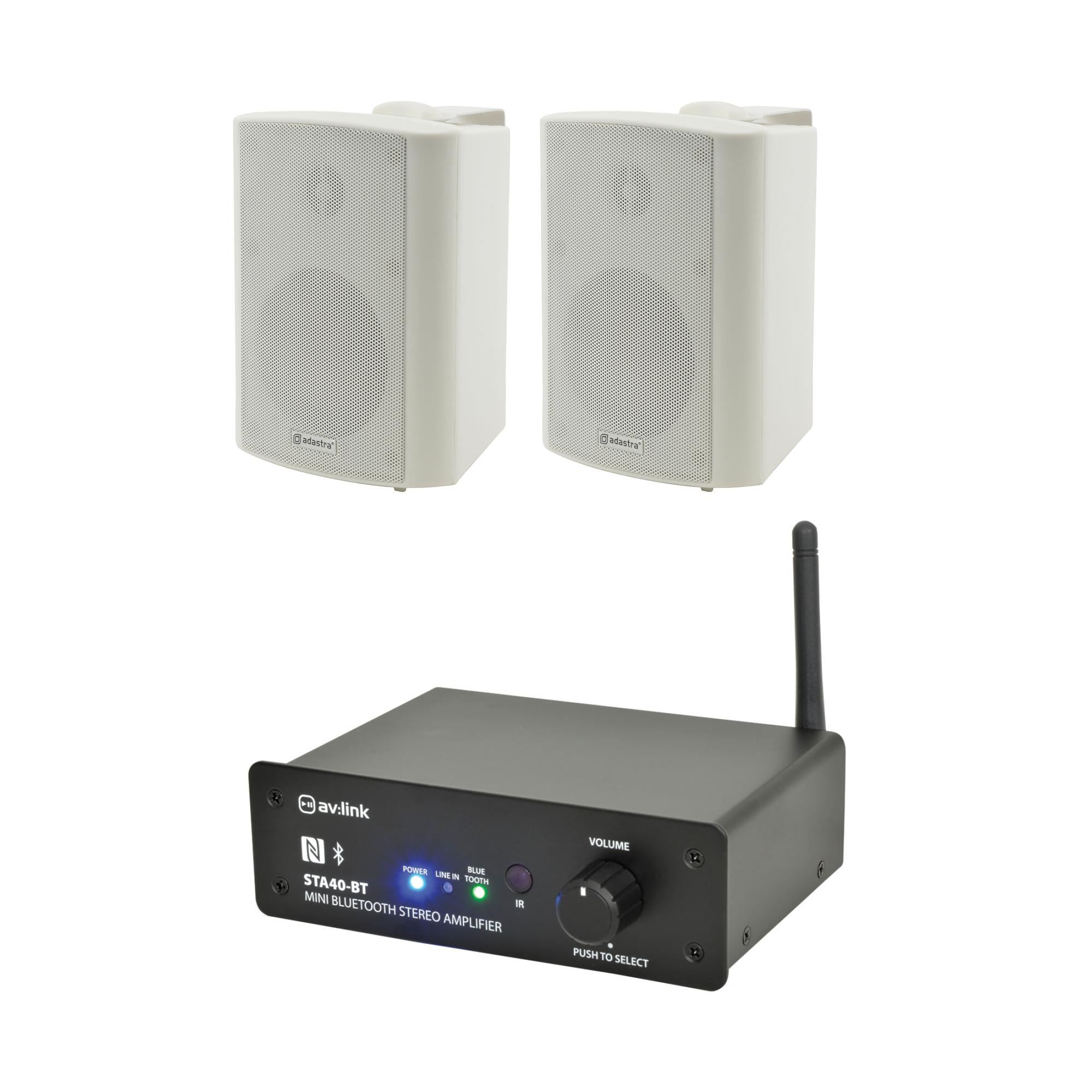 Bluetooth zesilovač se 2 reproduktory WH
