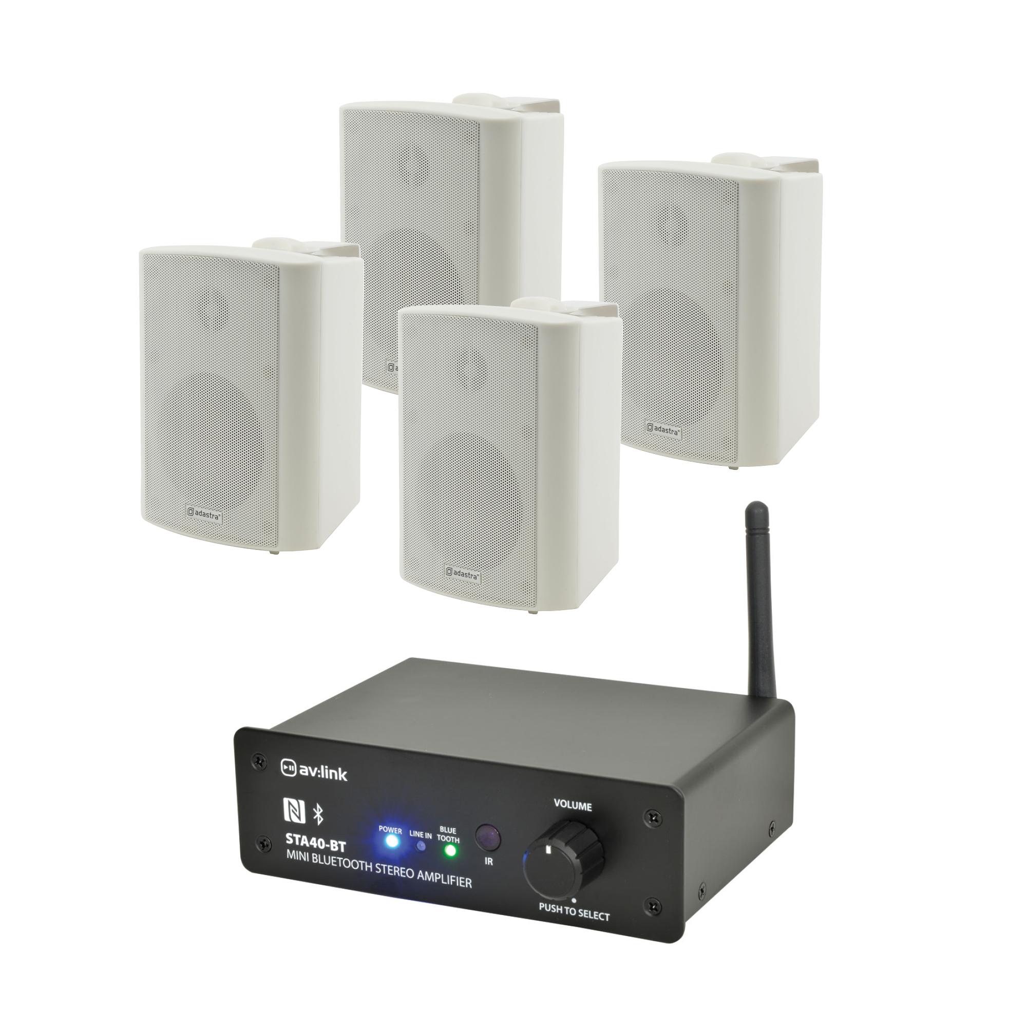 Bluetooth zesilovač se 4 reproduktory WH