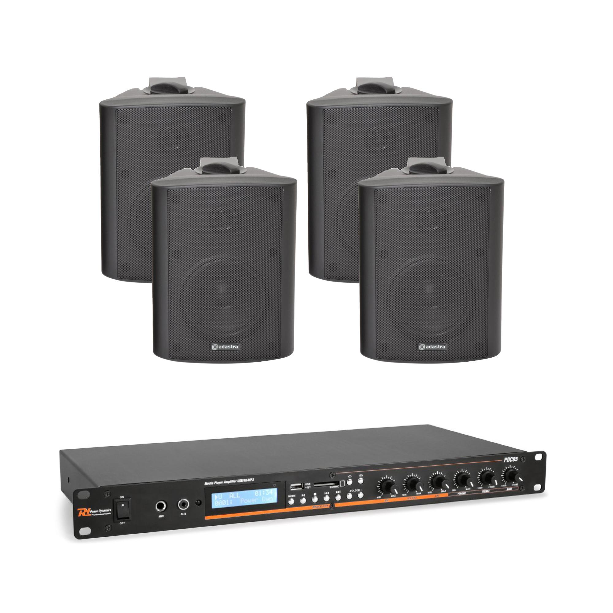 Mixážní zesilovač BT/MP3 se 4 reproduktory BK