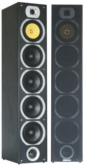 """Fenton Hi-Fi Tower 57B SET, 4x 6.5"""" repro sloupové, černé"""