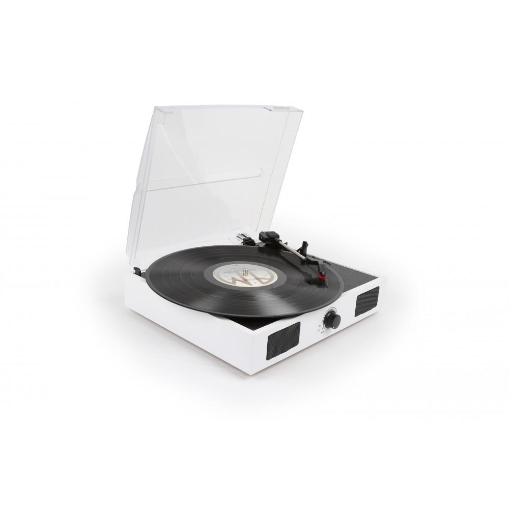 Fenton RP108W aktivní retro gramofon s USB, bílý