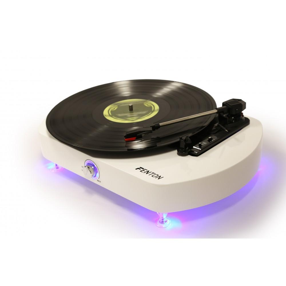 Fenton RP125 aktivní gramofon s USB, bílý klavírní lak