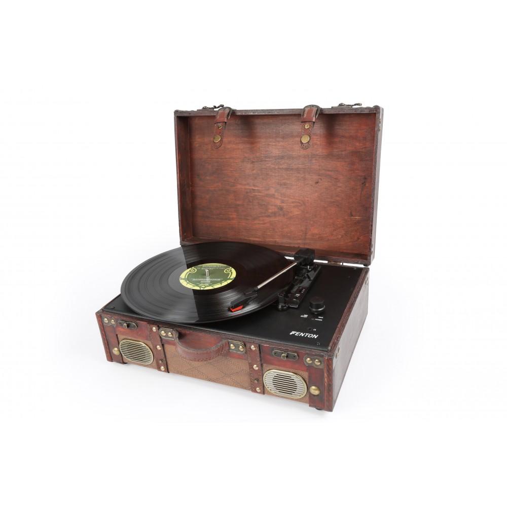 Fenton RP140 aktivní retro gramofon s USB, kožený kufr