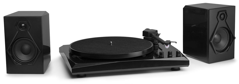 Fenton Gramo BT set, gramofon se 2 reproduktory 50W, Bluetooth, černý