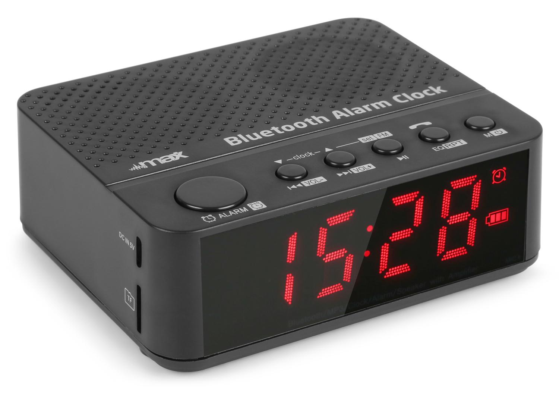 Max MX4 Bluetooth Clock Radio with Battery